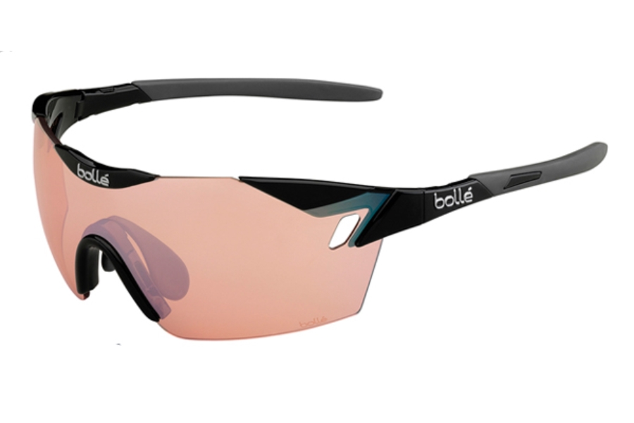 Bolle 6th Sense Sunglasses in 11842 Shiny Black - Gray w/ Modulator Rose Gun Oleo AF Lenses