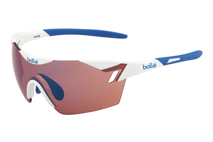 Bolle 6th Sense Sunglasses in 11843 Shiny White - Blue w/ Rose Blue Oleo AF Lenses
