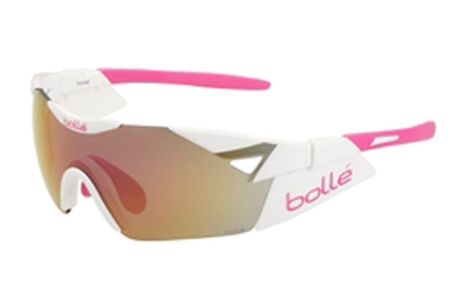 Bolle 6th Sense Sunglasses in 11913 ShWht/Pink w/Rose Gold Oloe/AF 7 Base, 11913
