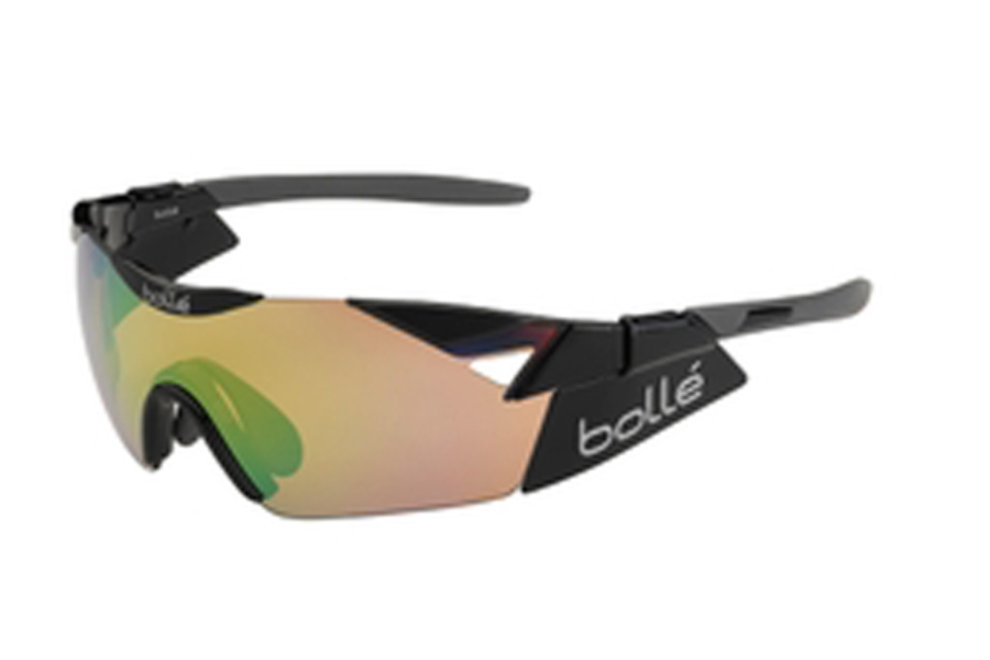 Bolle 6th Sense Sunglasses in 11915 Shiny Black w/Modulator GrnEmerald Ole/AF 7, 11915