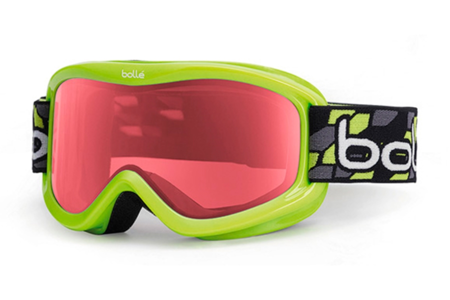 Bolle Volt Goggles in 21004 Green Geo w/ Vermillion Lens