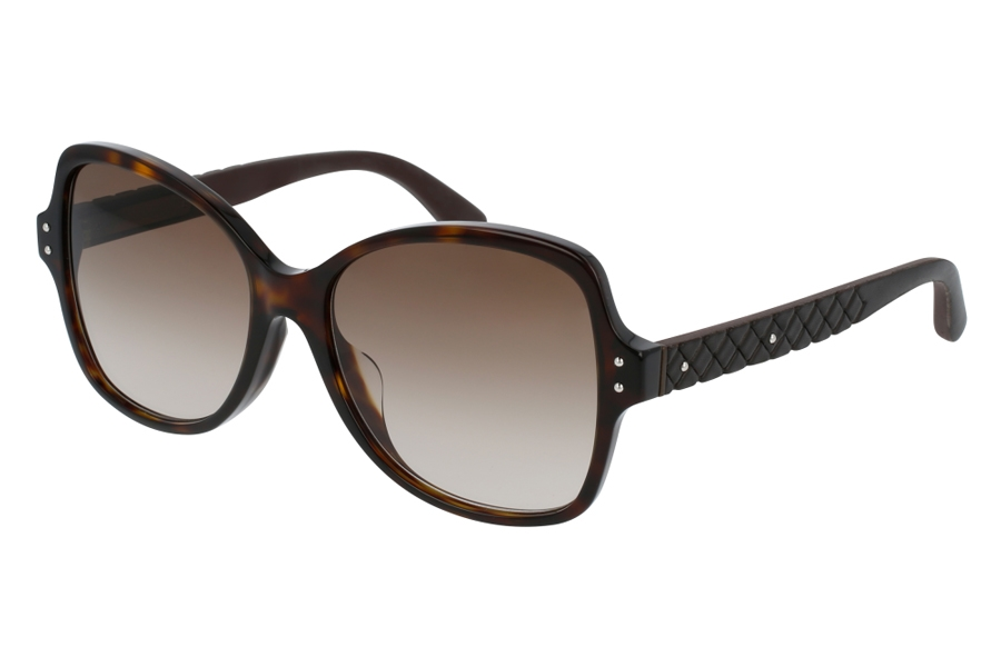 Bottega Veneta BV0045SA Sunglasses in 004 Havana w/ Brown Lens