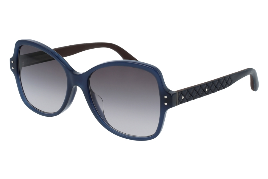 Bottega Veneta BV0045SA Sunglasses in 005 Blue w/ Grey Lens