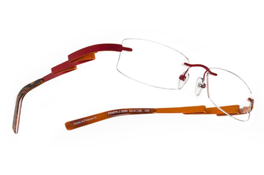 BOZ Pampa Eyeglasses in 3060 Red - Orange