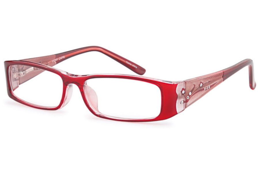 Capri Optics Traditional Plastics Vicky Eyeglasses in Burgundy