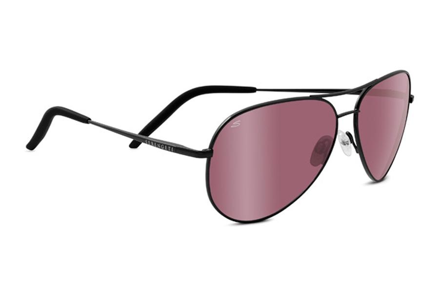 d1fd48dd5736 ... Serengeti Carrara Sunglasses in 8454 Satin Black w/ Polarized Sedona Bi  Mirror Lens ...
