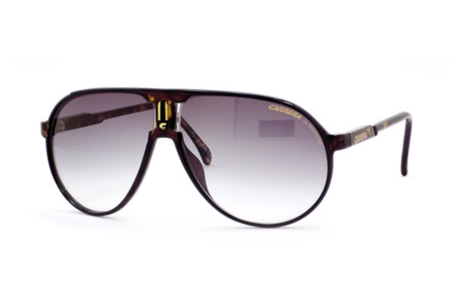 c03ad19baac ... Carrera CHAMPION S Sunglasses in 0FSI Shiny Dark Havana (YR green  gradient lens) ...