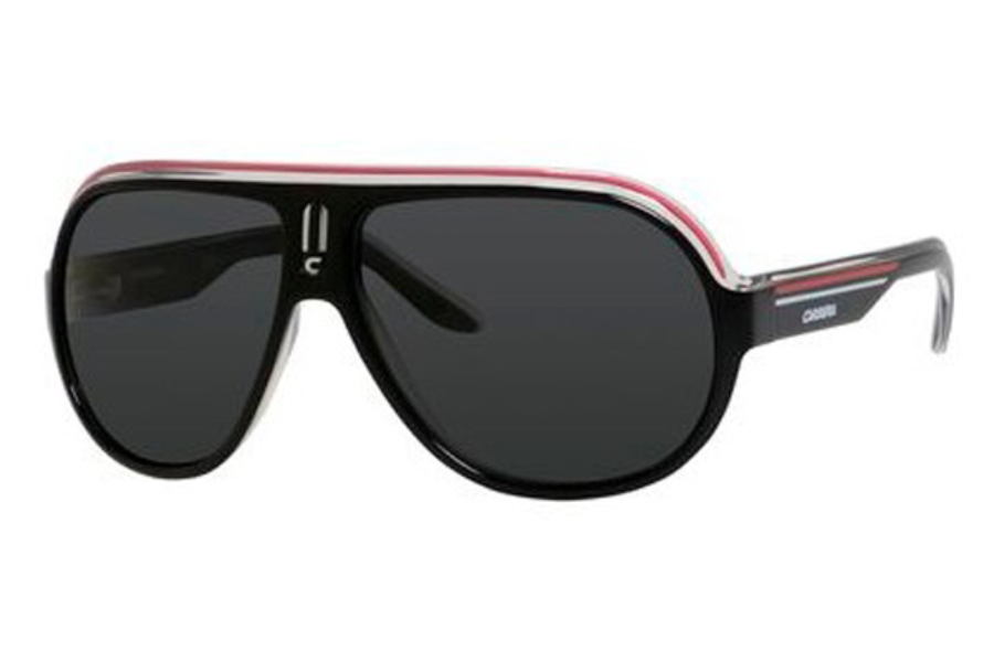 5a975248939 Carrera SPEEDWAY S Sunglasses in 0YZZ Black Crystal White Red (RA gray  polarized lens ...