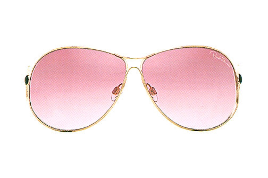 Roberto Cavalli RC183S ORIONE Sunglasses in C37 Shiny Rose Gold w/Shaded Plum Lenses