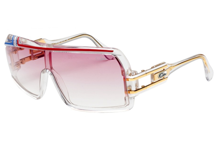 Cazal Legends 858 Sunglasses in 252 White/Pink/Turquoise