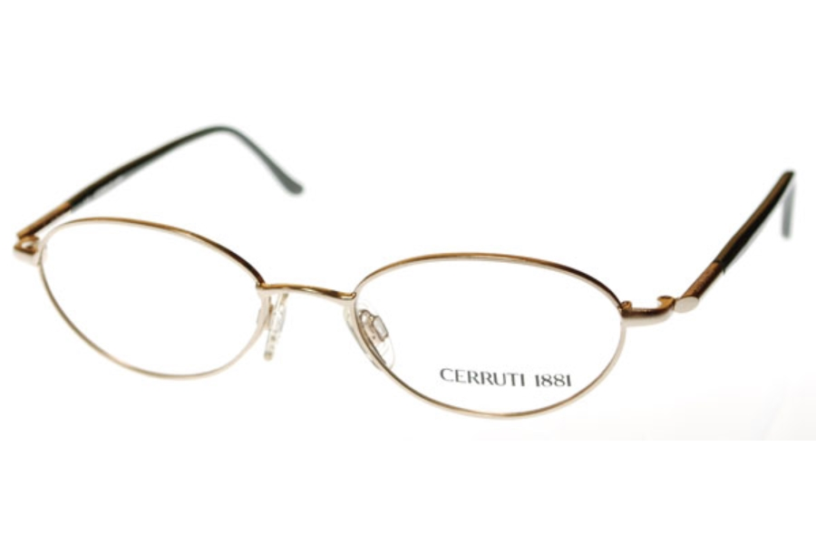 Cerruti 1881 C 1212 Eyeglasses in (B) Light Gold w/Green Temples