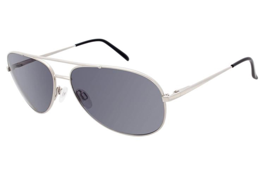 Charmant Titanium TI 12250P Sunglasses in SI Silver