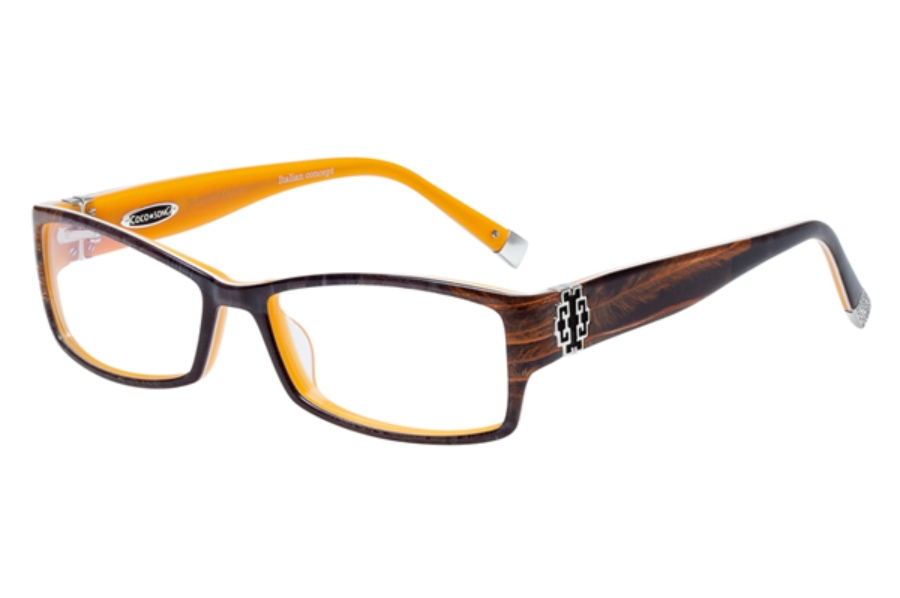 Coco Song So Beautiful Eyeglasses in C3  Black / Orange / Brown