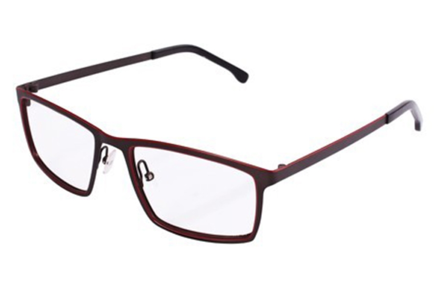 Noego Coincidence 5 Eyeglasses in C64 Grey/Red