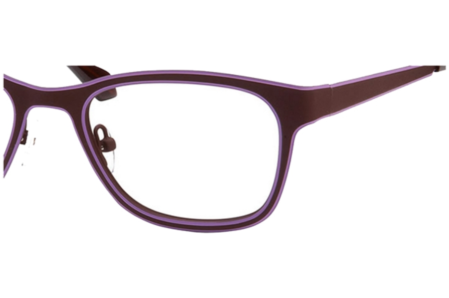 Cutting Edge by Bellagio Sophie Eyeglasses in Mauve / Purple