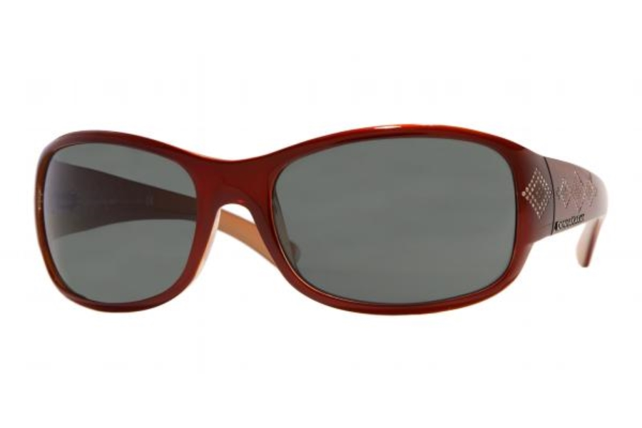 Donna Karan DK 1059B Sunglasses in 3320/6 Bordeaux/Orange w/Grey/Green Lenses