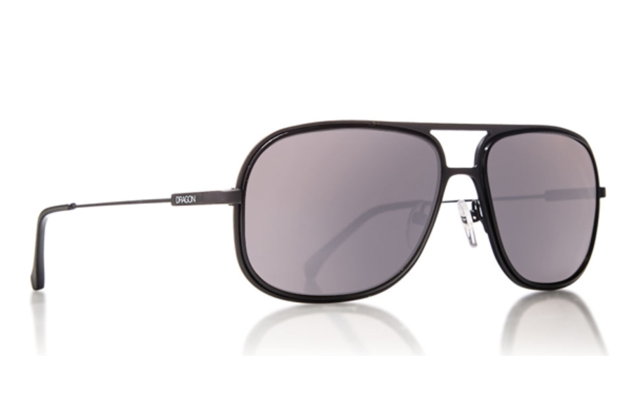 Dragon B-CLASS Sunglasses in MATTE BLACK w/ SILVER ION LENSES
