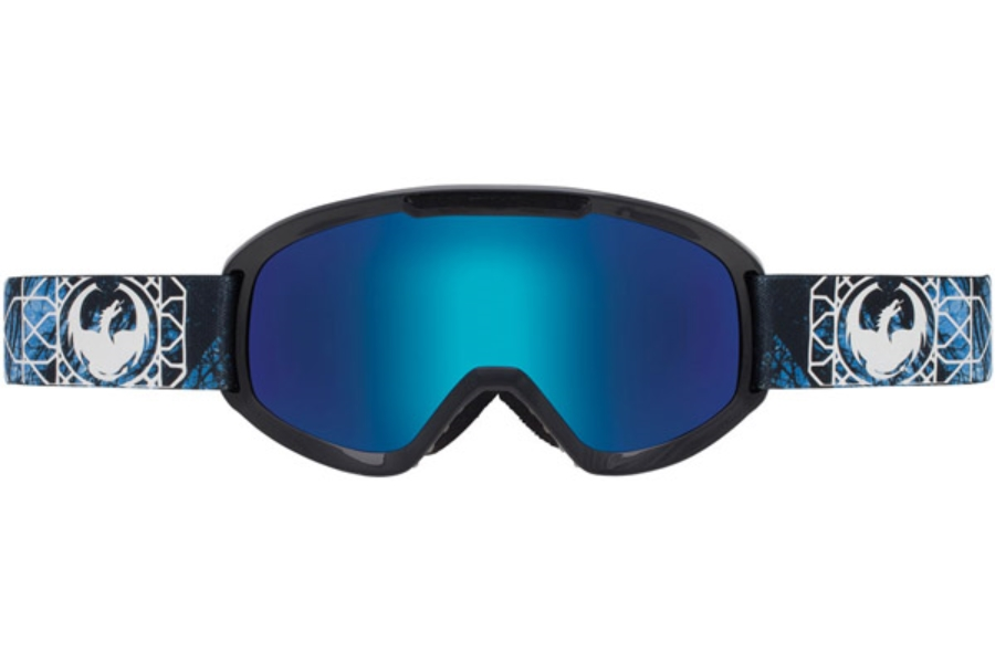 Dragon DX2 Goggles in DENSE / BLUE STEEL + YELLOW RED ION
