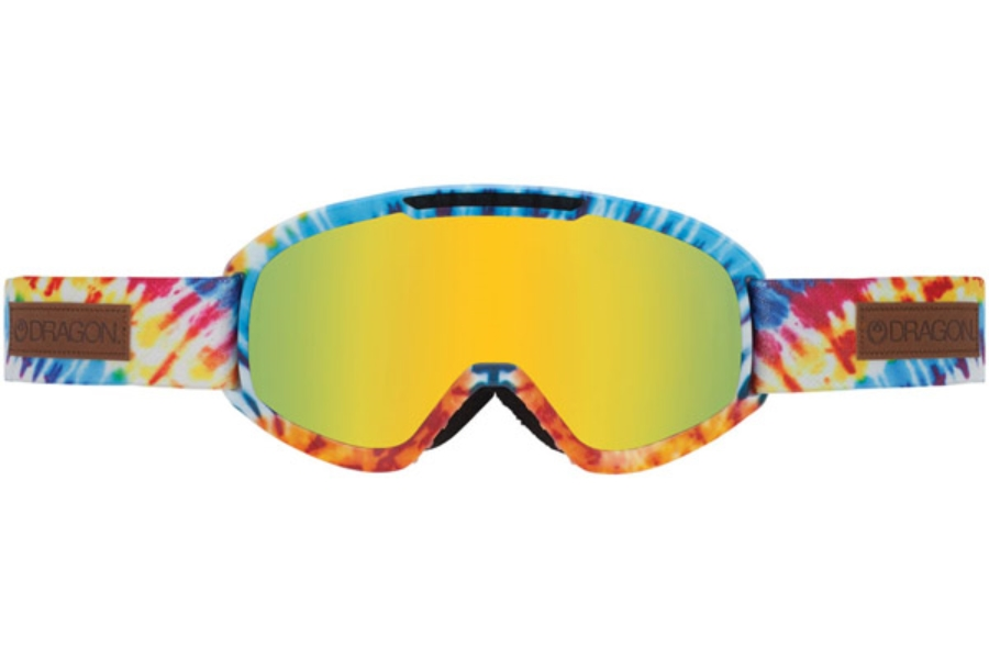 Dragon DX2 Goggles in TIE DYE / GOLD ION + YELLOW RED ION