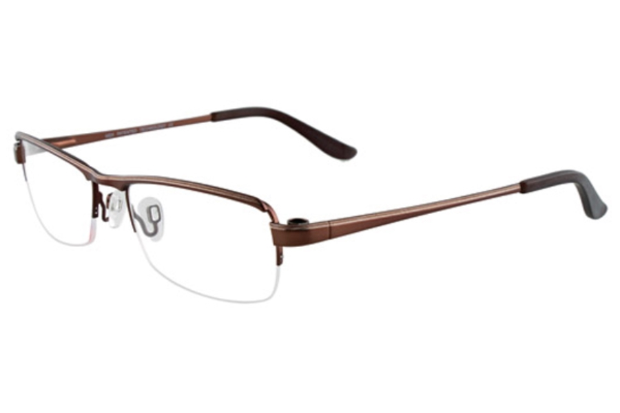 MDX - Manhattan Design Studio S3287 w/Magnetic Clip-ons Eyeglasses in 10 Satin Brown