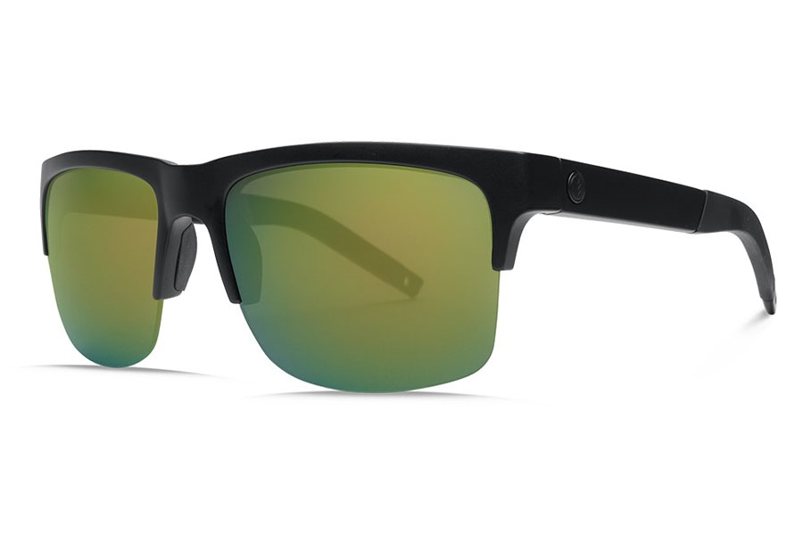 Electric Knoxville Pro Sunglasses in EE16101022 Matte Black/Ohm+ Polarized Bronze (Green)