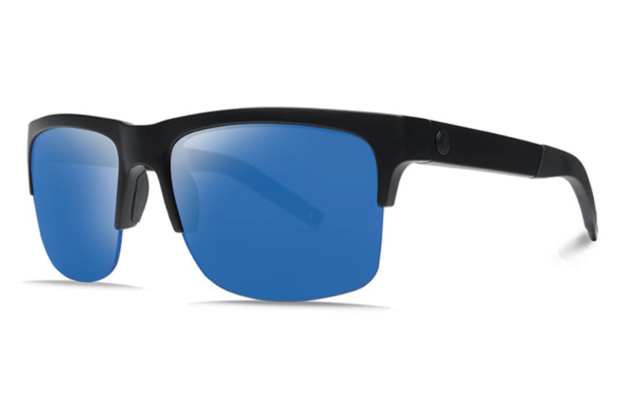 Electric Knoxville Pro Sunglasses in EE16101065 Matte Black w/ Ohm+ Polarized Blue