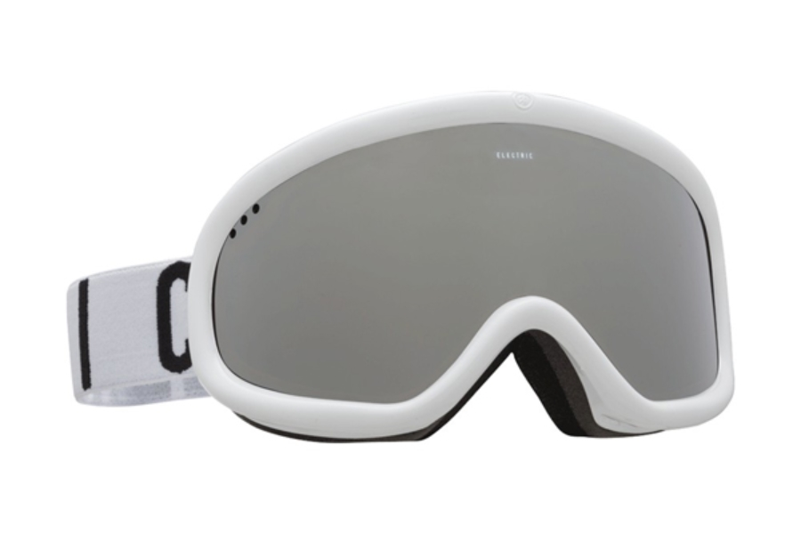 Electric Charger Goggles in EG2116108 Gloss White|Wordmark w/ Brose Silver Chrome