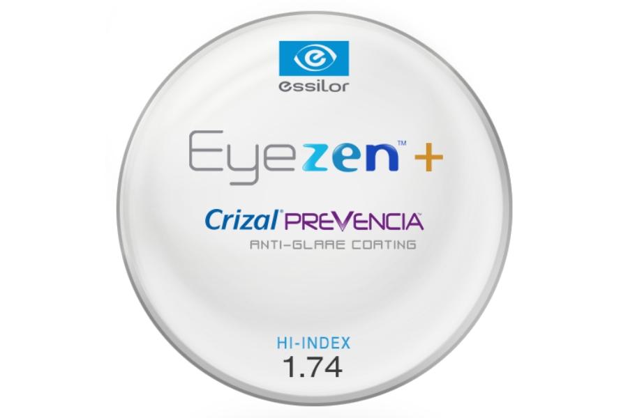 53548ba5a62 Essilor Essilor Eyezen™+ Hi-Index 1.74 W  Crizal Prevencia AR Lenses in ...