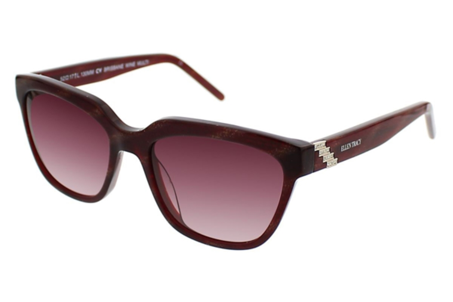 Ellen Tracy Brisbane Sunglasses in Wine Multi