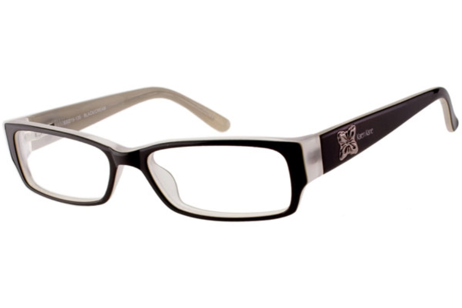 Karen Kane Freesia Eyeglasses in BLACK/CREAM