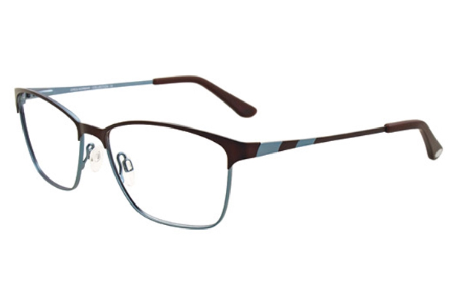 Greg Norman GN243 Eyeglasses in 10 Satin Dark Choco and Light Teal