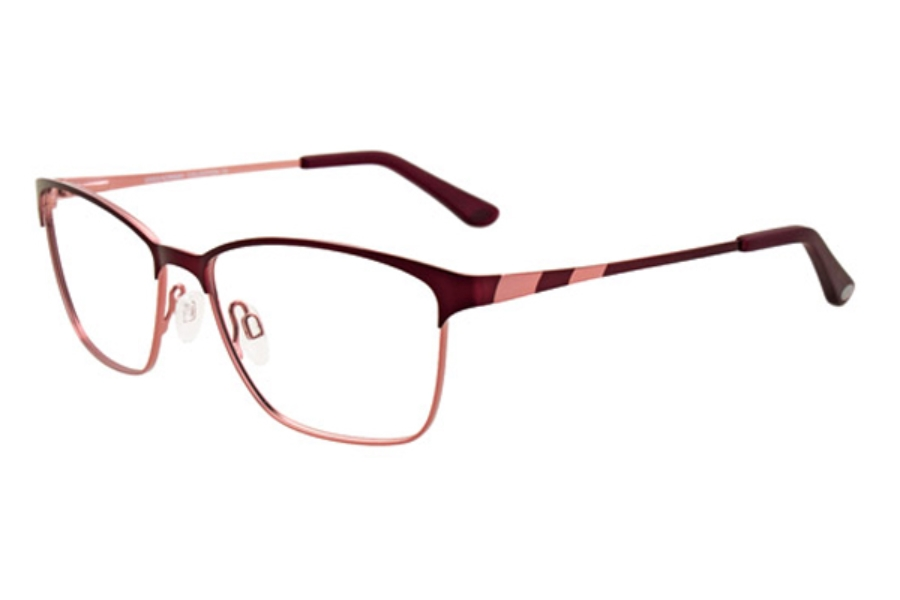 Greg Norman GN243 Eyeglasses in 30 Satin Burgundy and Light Pink