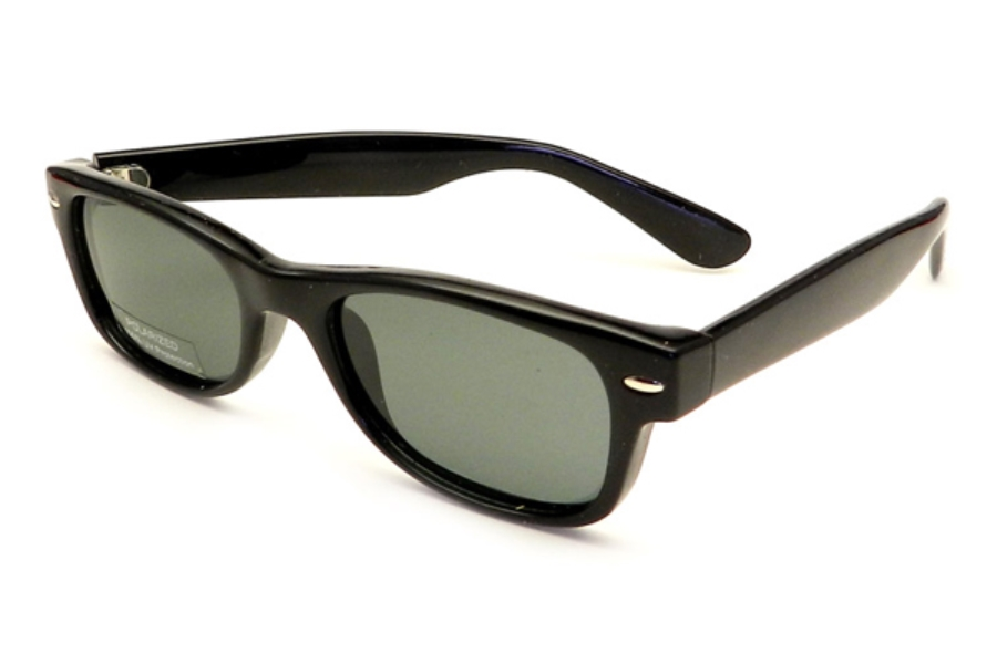 Gothamstyle Gothamstyle 148 Jr. Sun Sunglasses in Black w/ Polarized Grey Lenses