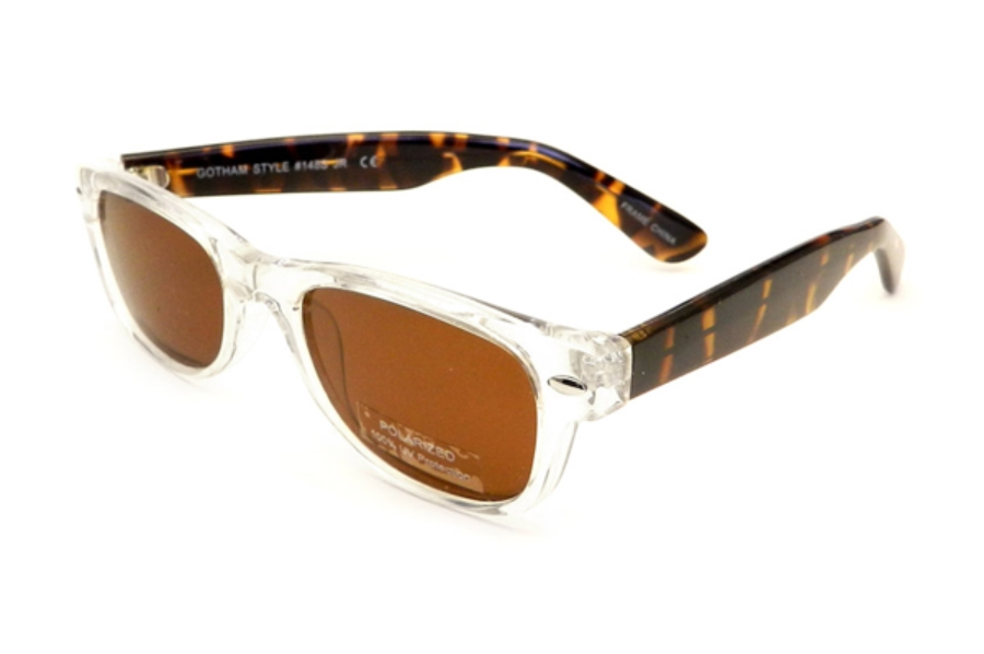 Gothamstyle Gothamstyle 148 Jr. Sun Sunglasses in Crystal / Tortoise w/ Polarized Amber Lenses