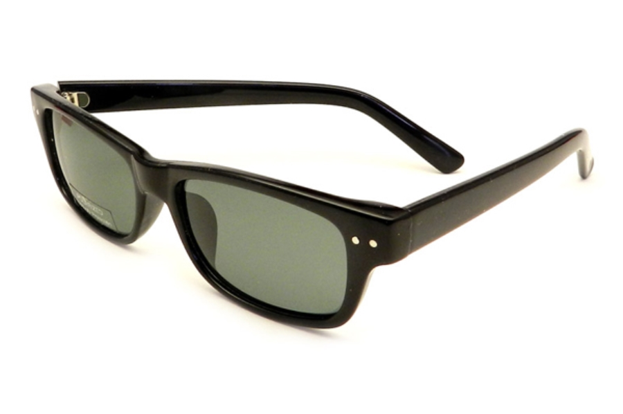 Gothamstyle Gothamstyle 146 Sun Sunglasses in Black w/ Polarized Grey Lenses