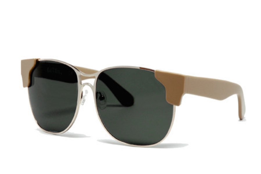 Grey Ant Square Sunglasses in Putty / Olive