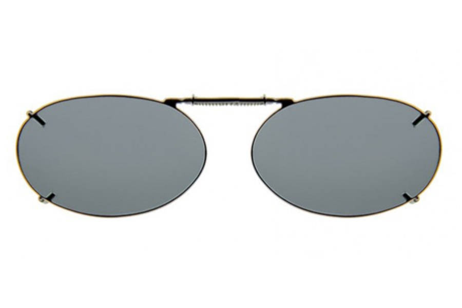 Haven Clip Oval 2 Gunmetal Frame Gray Lens Sunglasses in Haven Clip Oval 2 Gunmetal Frame Gray Lens Sunglasses