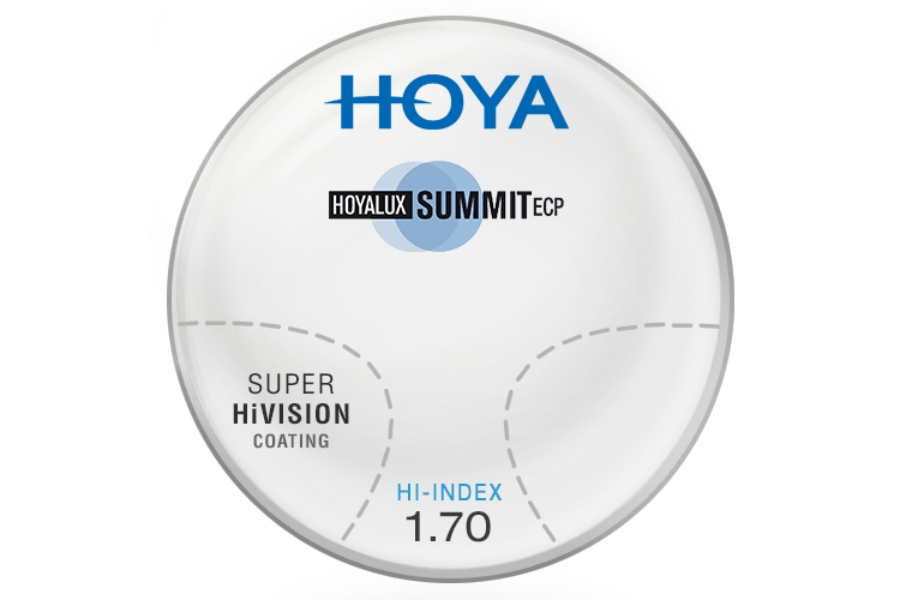 Hoya Hoya Summit ECP Hi-Index 1.70 W/ Super HiVision AR Progressives Lenses in Hoya Hoya Summit ECP Hi-Index 1.70 W/ Super HiVision AR Progressives Lenses