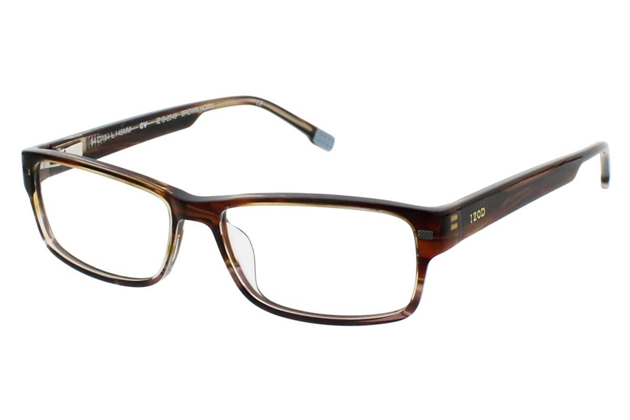 Izod Izod G-2049 Eyeglasses in Brown Horn (54 Eyesize Only)