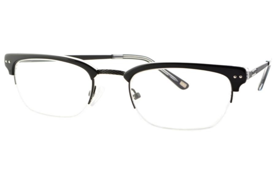 Jeff Banks Warwick Avenue JB038 Eyeglasses in Black / Black Crystal