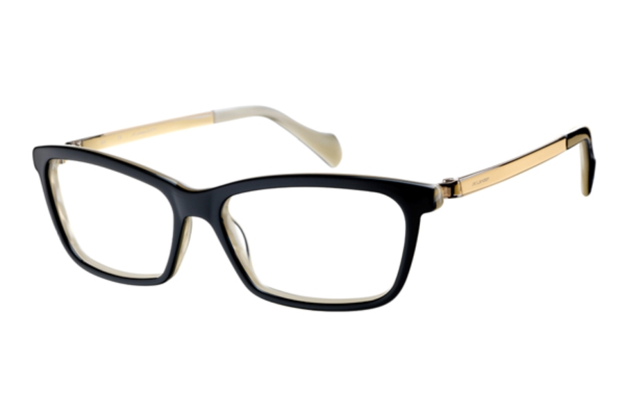 J K London Conduit Street Eyeglasses in 5187 Black / Gold