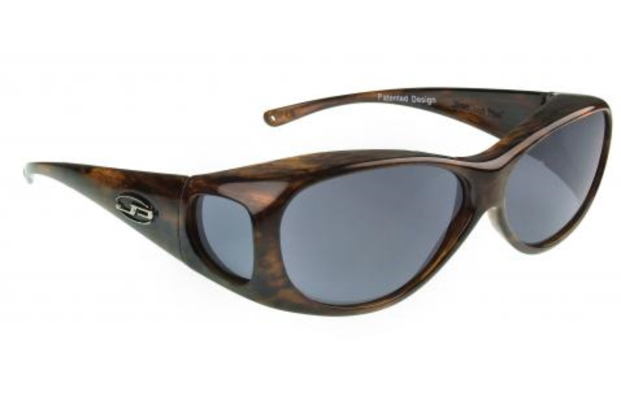 Fitovers Lotus Sunglasses in LS002 Brushed Horn w/ Gray Lenses