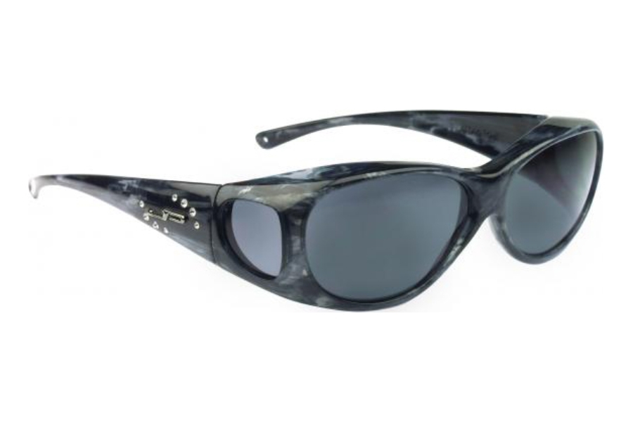 Fitovers Lotus Sunglasses in LS003S Smoke Marble w/ Gray Lenses