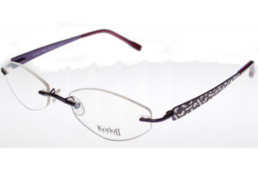 Korloff Paris K021 Eyeglasses in 019 Varn Plum Satin