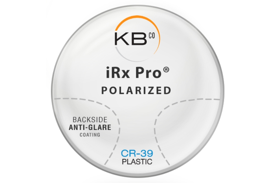 KBco iRx Pro® Polarized W/Back side AR coating Plastic CR-39 Progressive Lenses in KBco iRx Pro® Polarized W/Back side AR coating Plastic CR-39 Progressive Lenses