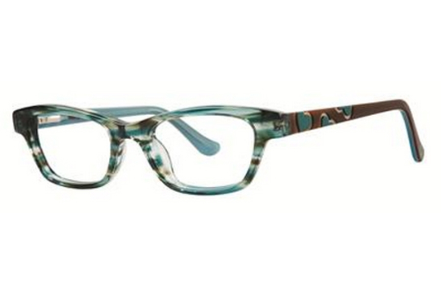 Kensie Girl Dancing Eyeglasses in Emerald