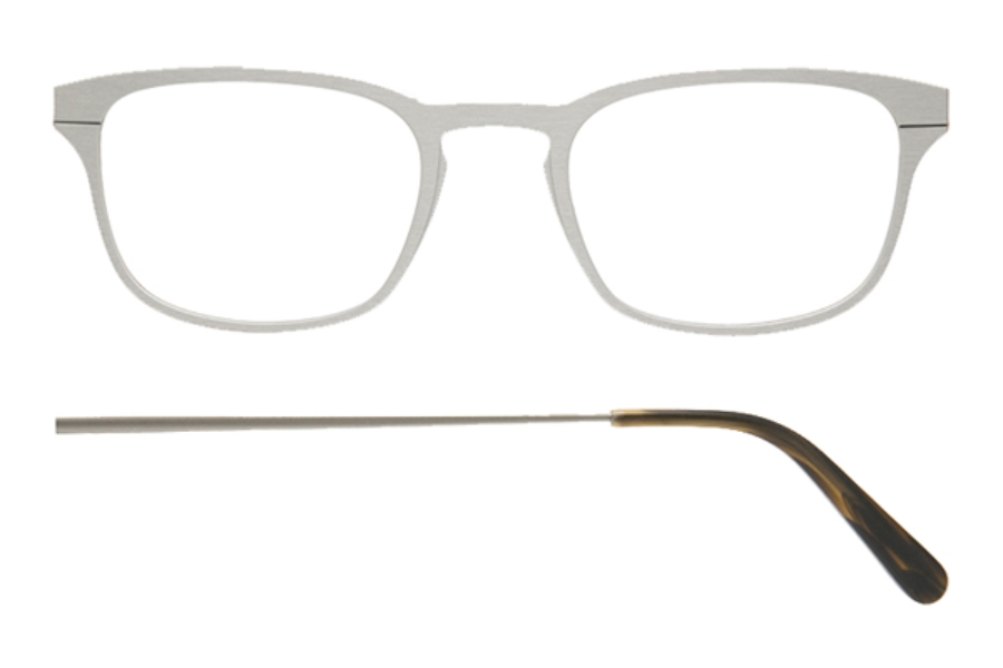 Kilsgaard 61 (Aluminium Temple) Eyeglasses in 61.0 Acetate Silver (Discontinued)