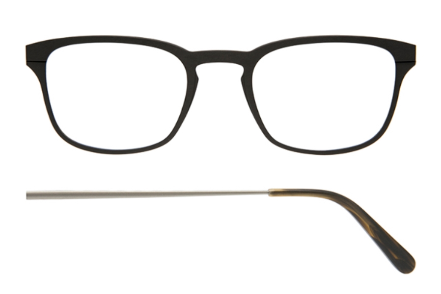 Kilsgaard 61 (Aluminium Temple) Eyeglasses in 61.1 Acetate Black (Discontinued)