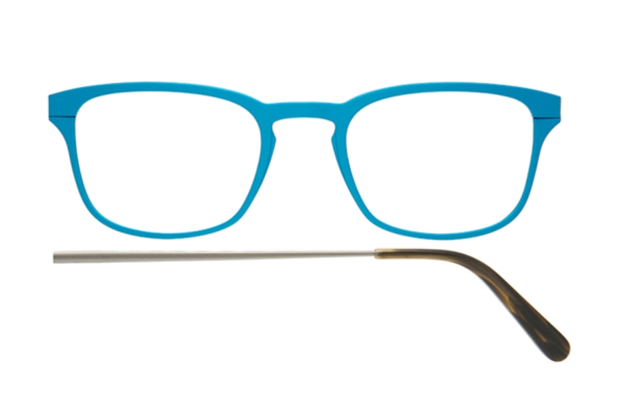 Kilsgaard 61 (Aluminium Temple) Eyeglasses in 61.11 Acetate Turquoise (Discontinued)