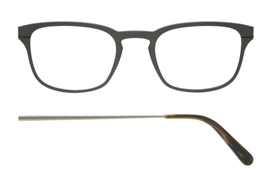 Kilsgaard 61 (Aluminium Temple) Eyeglasses in 61.2 Acetate Gun (Discontinued)